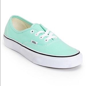Mint Vans (Size 7 Women's, 5.5 Men's)